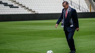 Le président turc Erdogan lors de l'ouverture du nouoveau stade des Besiktas en 2016. (OZAN KOSE / AFP)