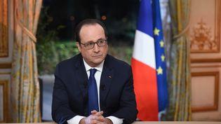 François Hollande, le 11 février 2016, à l'Elysée. (STEPHANE DE SAKUTIN / POOL)