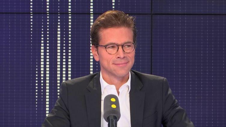 Geoffroy Didier, secrétaire général délégué des Républicains invité de franceinfo le 8 septembre 2018. (FRANCEINFO / RADIOFRANCE)
