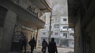 Le fief rebelle de la Ghouta près de Damas (Syrie), le 21 février 2018. (AFP)