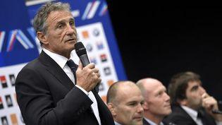 Le sélectionneur du XV de France Guy Novès, le 19 janvier 2016 à Marcoussis (Essonne). (FRANCK FIFE / AFP)