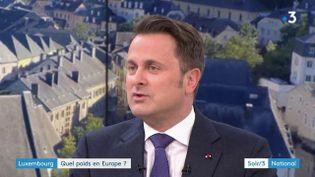 Xavier Bettel, Premier ministre du Luxembourg (France 3)
