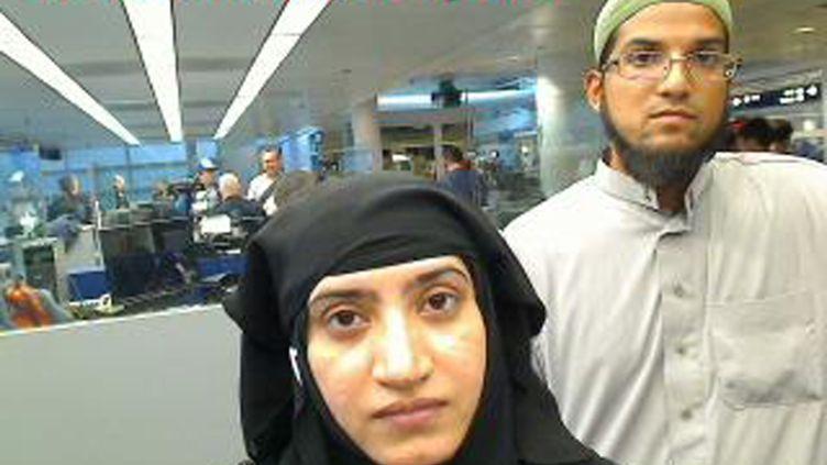Syed Farook and Tashfeen Malik, les auteurs de la tuerie de San Bernardino, à l'aéroport de Chicago le 27 juillet 2014. (AFP)