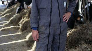 Adrien, 26 ans, agricuteur à Lay-Saint-Rémy en Meurthe-et-Moselle. (MANON MELLA / FRANCEINFO)