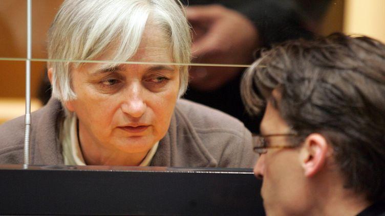 L'ex-femme de Michel Fourniret, Monique Olivier, le 29 mai 2008 à Charleville-Mézières (Ardennes). (FRANCOIS NASCIMBENI / AFP)