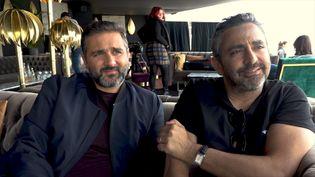 """Les réalisateurs de """"Hors Normes"""", OlivierNakache (à gauche) etEric Toledano, au Festival de Cannes, le 24 mai 2019. (RADIO FRANCE)"""
