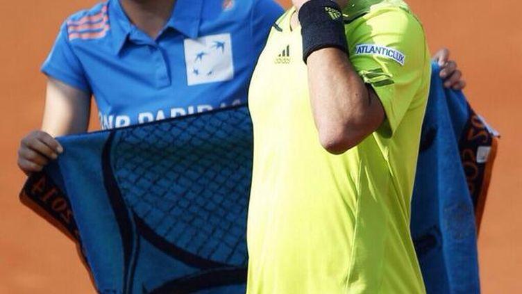 L'Italien Fabio Fognini, lors de son match perdu contre Gaël Monfils, le 31 mai à Roland-Garros. (FRANCETV SPORTS)
