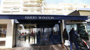 La bijouterie Harry Winston est située sur la Croisette à Cannes (Alpes-Maritime), le 18 janvier 2017. (MAXPPP)