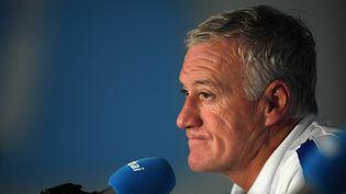 Didier Deschamps lors d'une conférence de presse àNeustift, en Autriche, le 31 mai 2016. (MIS / PICTURE ALLIANCE / AFP)