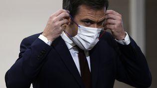 Le ministre de la Santé Olivier Véran à Paris, le 14 janvier 2021. (THOMAS COEX / AFP)