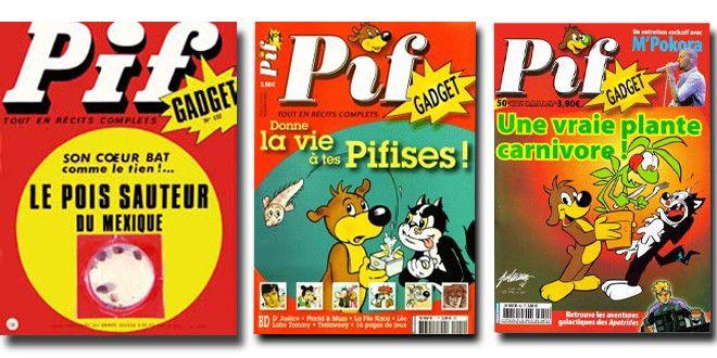 """Trois """"unes"""" célèbres de Pif Gadget  (DR)"""