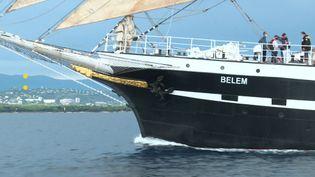 Le Belem a quitté Nantes pour se diriger vers Cannes. (France Télévisions)