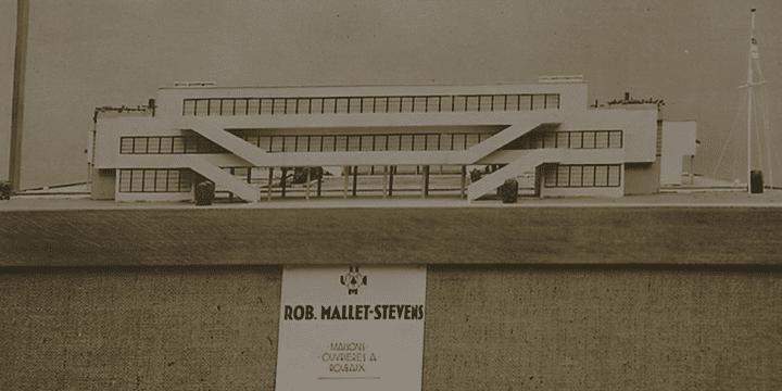 Robert Mallet-Stevens a beaucoup travaillé pour l'insustrie, ici un projet de cité ouvrière.  (capture d'écran France 3)
