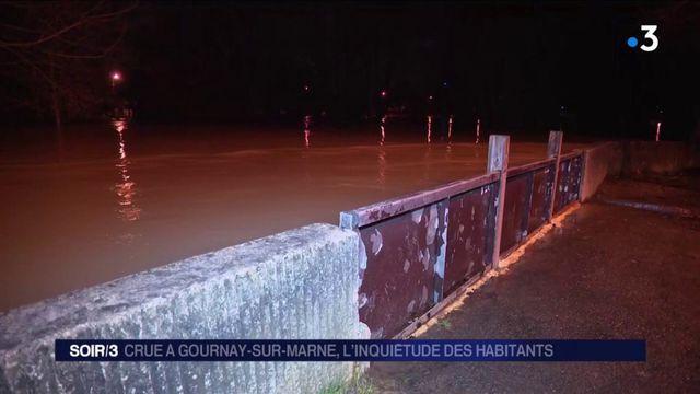 Crue à Gournay-sur-Marne : le niveau de l'eau continue de monter