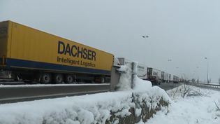 Des camions interdits de circuler sur l'A1 mercredi 30 janvier 2019 (CAPTURE ECRAN FRANCE 2)