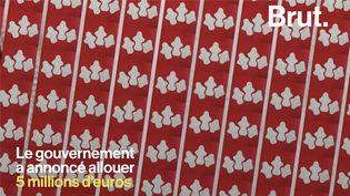 """VIDEO. Précarité menstruelle : """"Ce serait bien que le gouvernement prenne exemple sur l'Écosse"""" (BRUT)"""