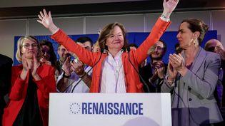 La tête de liste de LREM aux élections européennes, Nathalie Loiseau, le 26 mai 2019 à Paris. (LUDOVIC MARIN / AFP)