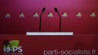 La salle de presse du Parti socialiste, le 18 décembre 2017. (STEPHANE DE SAKUTIN / AFP)