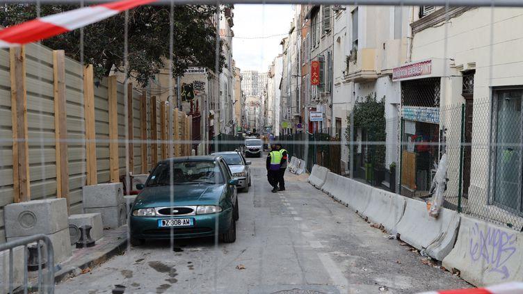La rue d'Aubagne, à Marseille, le 8 janvier 2019. (ALEXANDRE BARLOT / RADIOFRANCE)