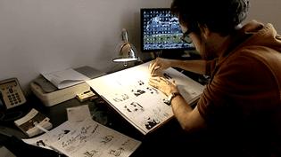 Le dessinateur Benoit Hamet participe aux 24 heures de la BD d'Angoulême  (France3 / Culturebox)