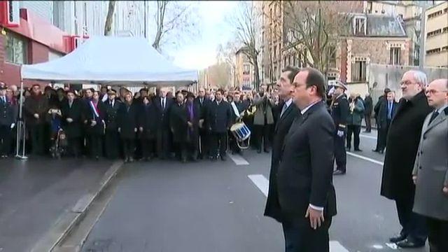 Attentats de janvier : François Hollande rend hommage à la policière tuée à Montrouge
