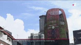 Cet hôtel de Singapour est recouvert de feuillages pour le rafraîchir (France 2)