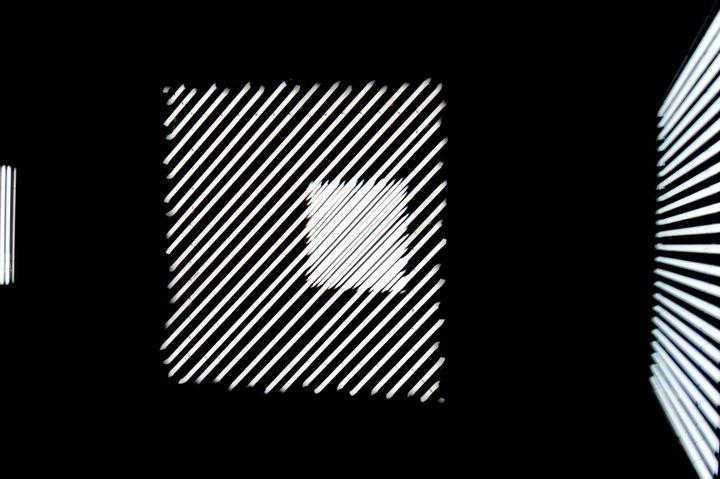 """""""Quatre panneaux avec quatre rythmes d'éclairage interférents"""" de François Morellet  (JEAN-PIERRE CLATOT / AFP)"""