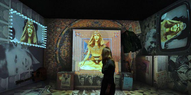 """Une salle de l'expo """"David Bowie is""""  (Tony Kyriacou / Rex Features)"""