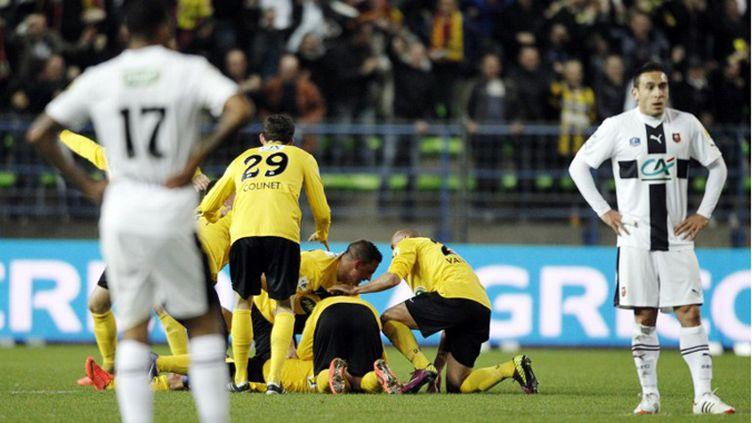 Valéro a ouvert le score contre l'OM (CHARLY TRIBALLEAU / AFP)