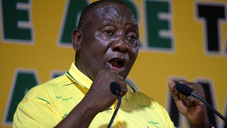 Le président sud-africain,Cyril Ramaphosa, lors de la célébration du 107e anniversaire de l'African National Congress (ANC), le 8 janvier 2019 à Durban. (Reuters - ROGAN WARD / X02832)