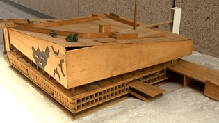 La maquette du palais des Congrès Le Corbusier à Strasbourg  (France3/culturebox)