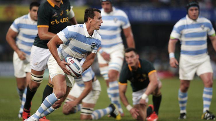 Juan Imhoff en action face à l'Afrique du Sud (GIANLUIGI GUERCIA / AFP)