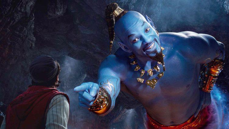 "Will Smith dans le rôle du génie d'""Aladdin"" (2019) (Walt Disney / Courtesy of Disney)"