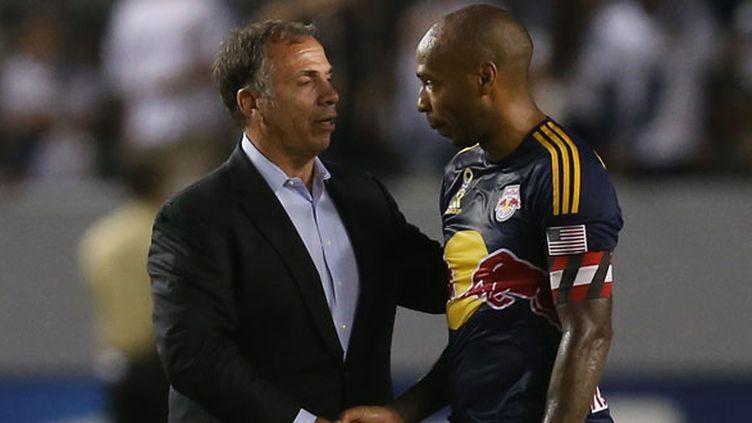 Thierry Henry et son entraîneur Bruce Arena