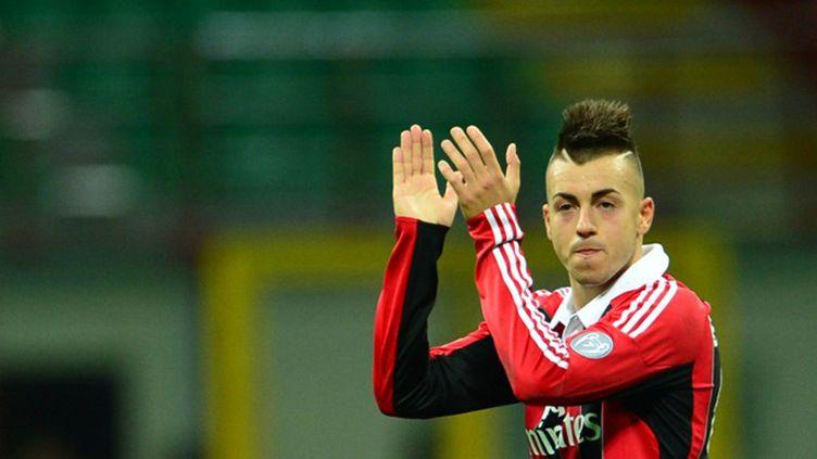 Zlatan Ibrahimovic et Clarence Seedorf (Milan AC) (GIUSEPPE CACACE / AFP)