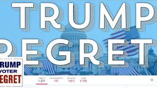 """Capture écran du compte Twitter """"Trump Regrets"""", mardi 31 janvier 2017. (TRUMP REGRETS)"""