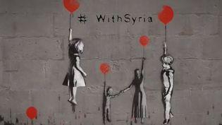 #Withsyria Banksy  (Capture d'écran vidéo #Withsyria Banksy)
