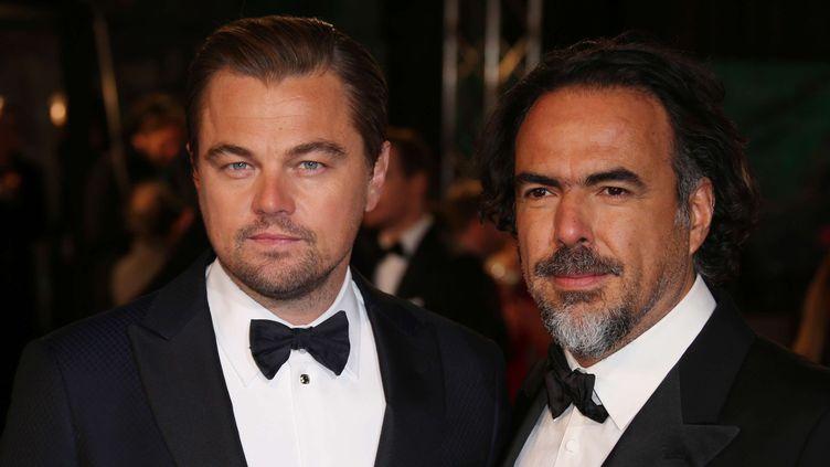 Leonardo Di Caprio et Alejandro Iñárritu (14 février 2016)  (Joel Ryan / AP / SIPA)
