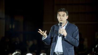 L'économiste Thomas Piketty, lors d'une réunion publique consacrée à la primaire du PS et de ses alliés à Lille (Nord), le 25 février 2016. (JULIEN  PITINOME / CITIZENSIDE / AFP)