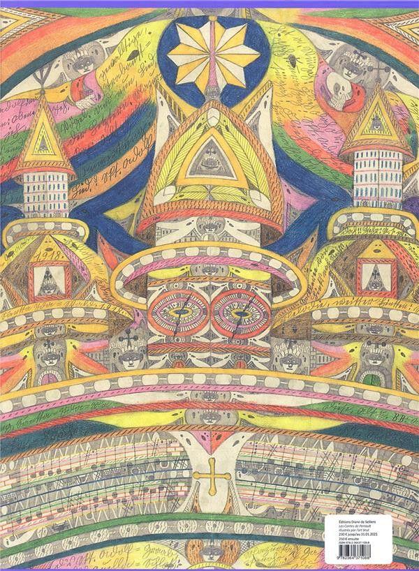 """Quatrième de couvertre de """"Les Contes de Perrault illustrés par l'art brut"""". (Editions Diane De Selliers)"""
