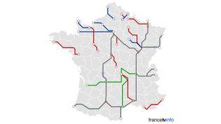 Un rapport rendu au gouvernement le 26 mai 2015 préconise de revoir en profondeur le réseau de trains Intercités. (FRANCETV INFO)