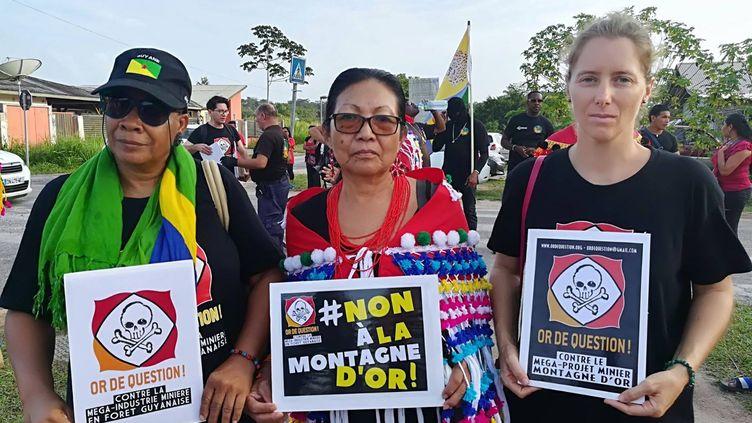 Des militants du collectif Or de question en Guyane. (CAPTURE D'ECRAN FACEBOOK / OR DE QUESTION)