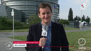 Ben Barnier, en direct de Strasbourg. (France 2)