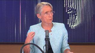 Elisabeth Borne, ministre du Travail, de l'Emploi et de l'Insertion, invitée de franceinfo le 12 mai 2021.  (FRANCEINFO / RADIO FRANCE)