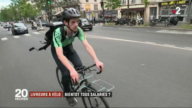 Les livreurs à vélo seront-ils salariés bientôt ?