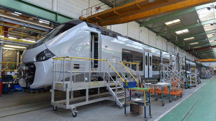 L'usine Alstom à Reichshoffen (bas-Rhin) fabrique le TER Regionlis. (FRANCK KOBI                          / MAXPPP)