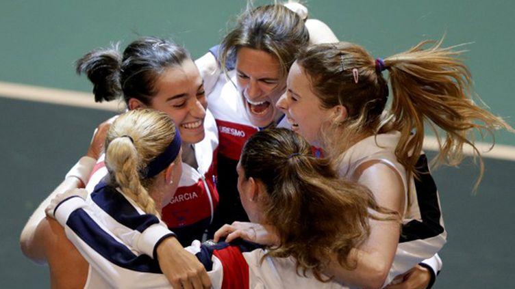 L'équipe de France de Fed Cup veut y croire aux Etats-Unis. (KENZO TRIBOUILLARD / AFP)
