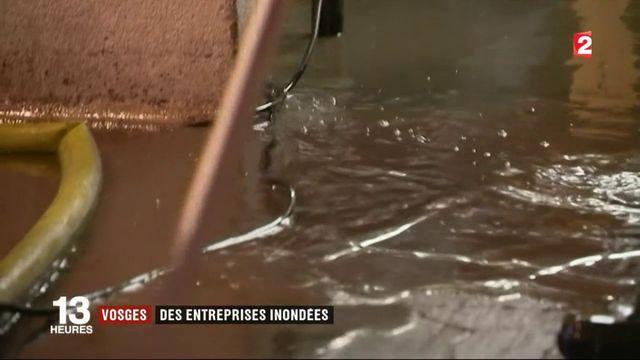 Vosges : des entreprises inondées