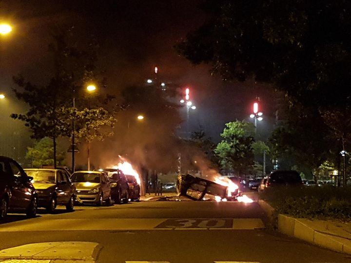 Des violences ont éclaté mardi soir dans trois quartiers de Nantes. (Ici à Malakoff) (ANTOINE DENÉCHÈRE / RADIO FRANCE)