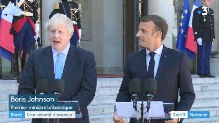 Emmanuel Macron et Boris Johnson (France 3)